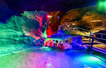 In pics: landscape inside Xueyu Cave in China's Chongqing