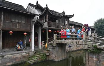 Daily life in Xinshi ancient town in E China's Zhejiang