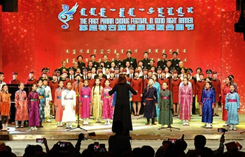 First Prairie Chorus Festival held in north China's Inner Mongolia