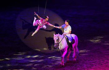 """Horse dance show """"Eternal Horse Ode"""" staged in Hohhot"""