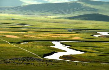Aerial view of Hulunbuir in China's Inner Mongolia