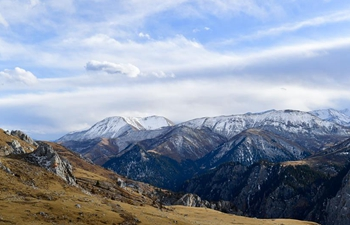 View of mountains in Yushu, NW China