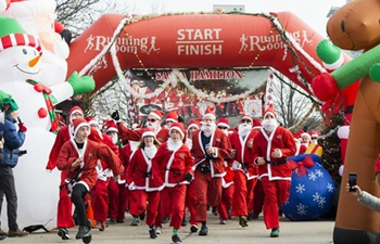 2019 Santa 5K Run held in Ontario, Canada