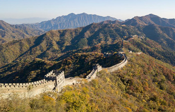 Tourists visit Mutianyu Great Wall in Beijing