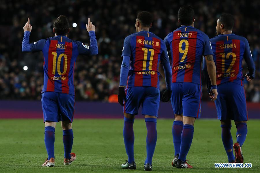 (SP)SPAIN-BARCELONA-SOCCER-KING'S CUP-BARCELONA VS ATHLETIC BILBAO