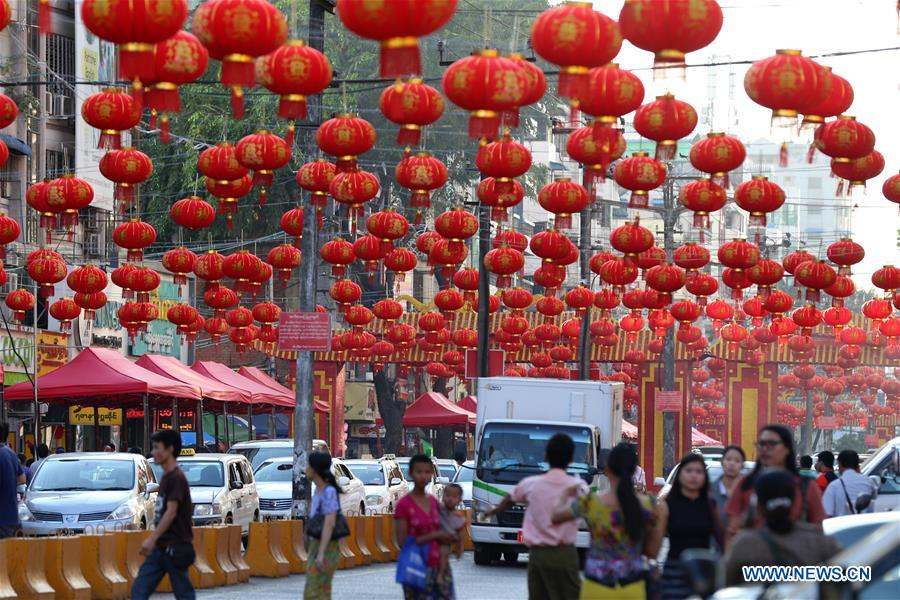 myanmar yangon chinese lunar new year decoration - When Is Chinese New Year Celebrated