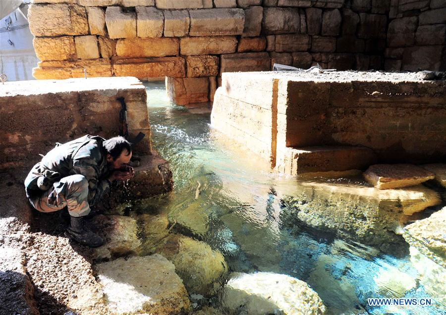 SYRIA-AIN FIJEH-SYRIAN FORCES-WATER-RICH TOWN-FULLY CONTROL