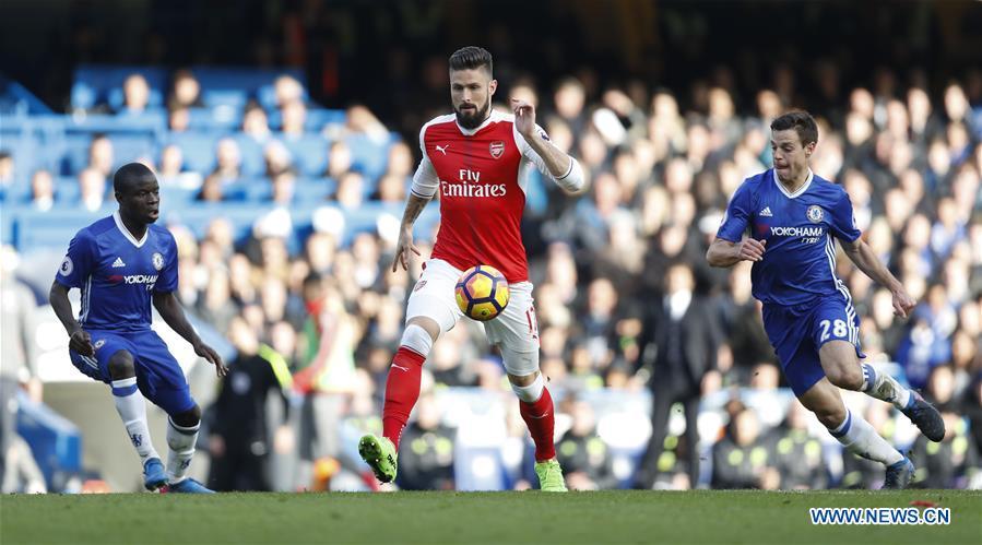(SP)BRITAIN-LONDON-FOOTBALL-CHELSEA VS ARSENAL