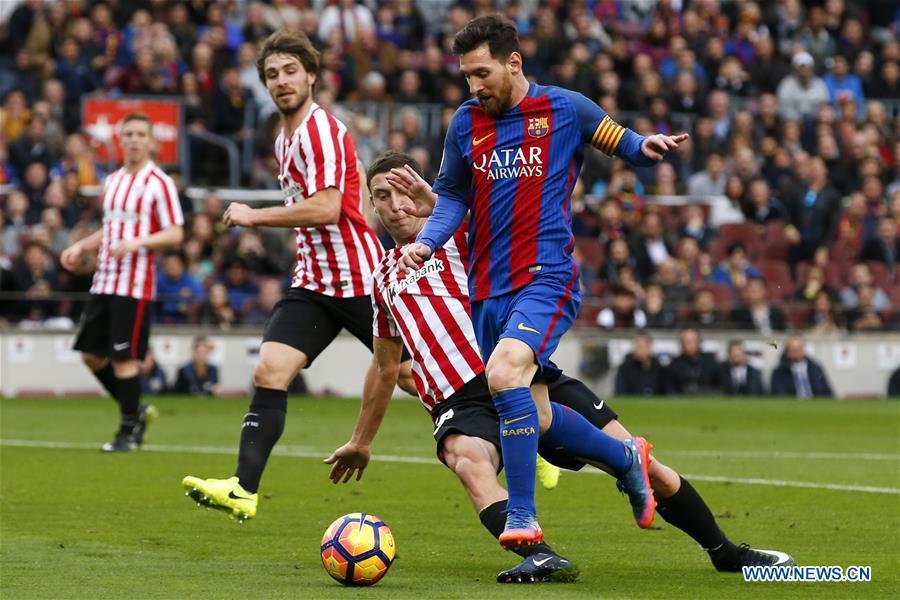 (SP)SPAIN-BARCELONA-SOCCER-BARCELONA VS ATHLETIC CLUB BILBAO