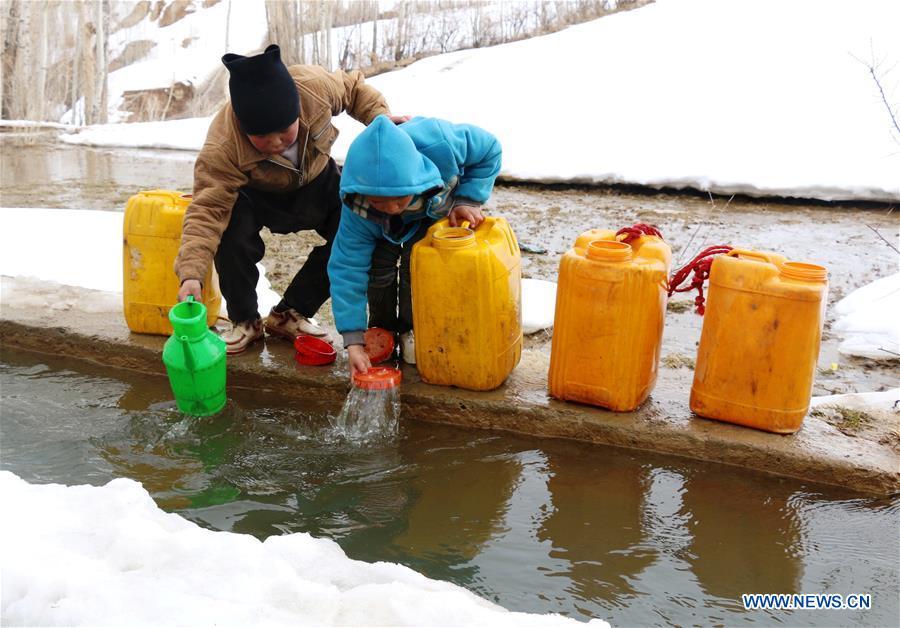 AFGHANISTAN-BAMYAN-WATER