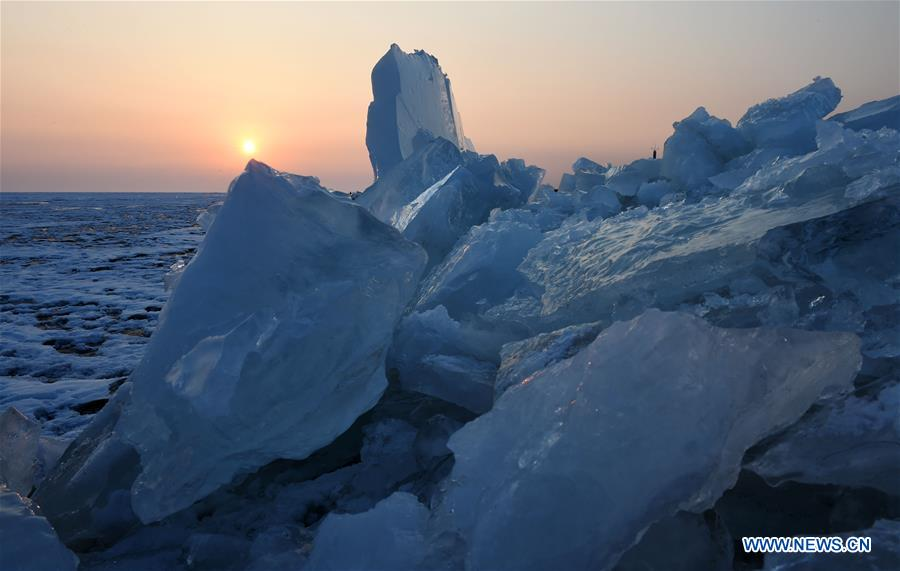 CHINA-HEILONGJIANG-XINGKAI LAKE-ICE FLOE(CN)