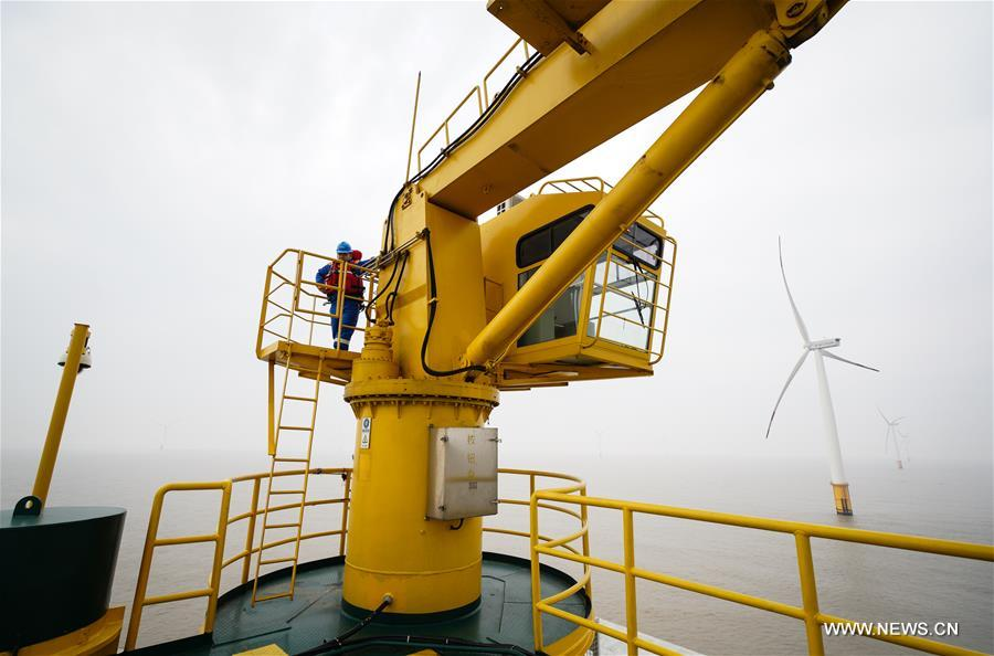 The Rudong offshore windpower project, which is located around 25-35 kilometers offshore Yangkou Port, comprises 38 4MW turbines with a total capacity of 152 MW.