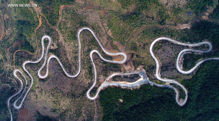 in pics winding mountain road in se china s fujian xinhua