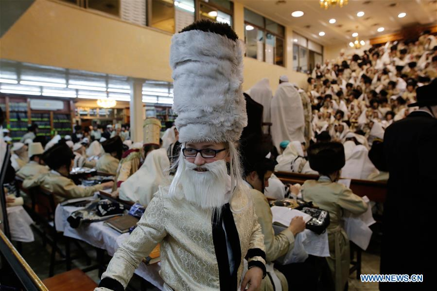 MIDEAST-JERUSALEM-PURIM-CELEBRATION
