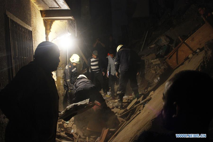 EGYPT-CAIRO-ACCIDENT-BUILDING COLLAPSE