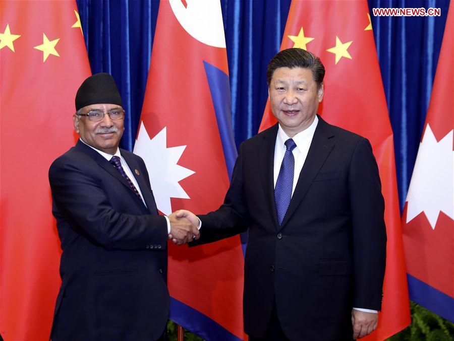 CHINA-BEIJING-XI JINPING-NEPAL-PM-MEETING (CN)