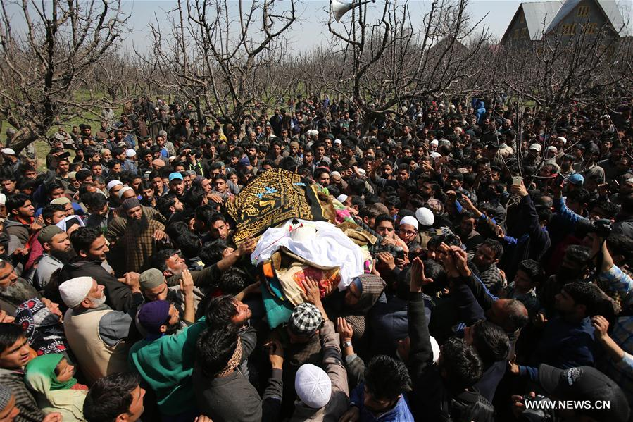 Two militants belonging to Hizb-ul-Mujahideen (HM) outfit were killed Sunday in a gunfight with police in restive Indian-controlled Kashmir, officials said
