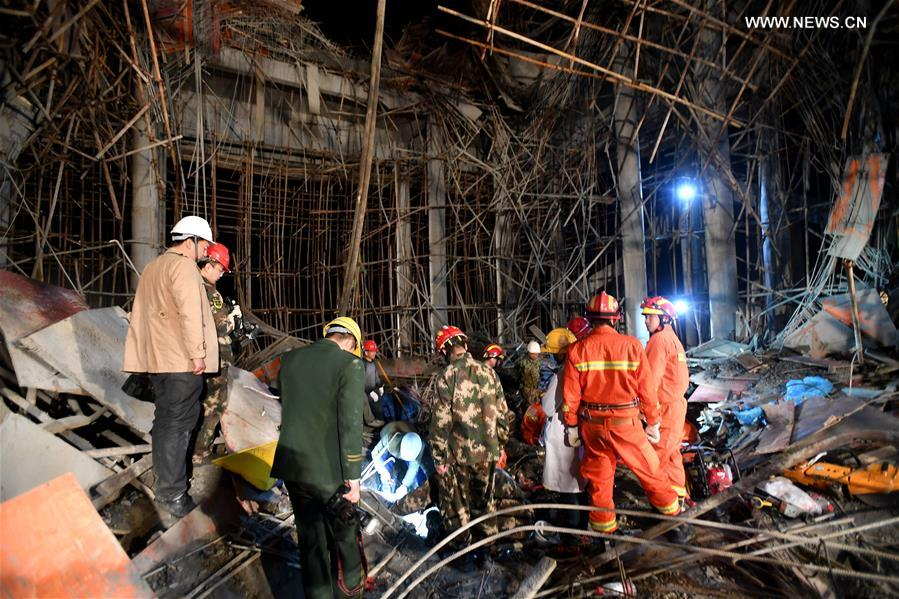 #CHINA-HUBEI-MACHENG-SCAFFOLD-COLLAPSE ACCIDENT (CN*)