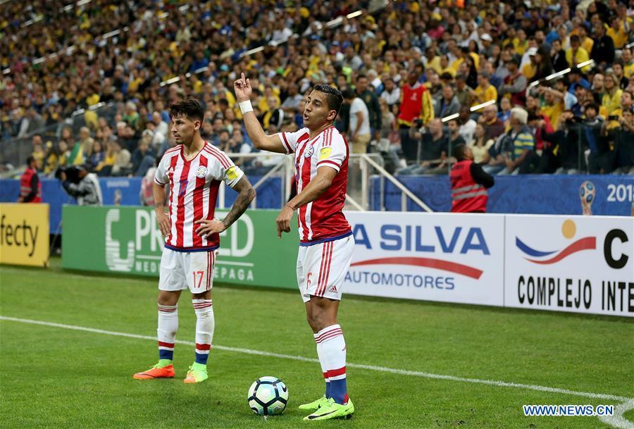 (SP)BRAZIL-SAO PAULO-SOCCER-FIFA WORLD CUP 2018-QUALIFIERS-BRAZIL VS PARAGUAY