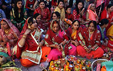 People celebrate Chhath festival