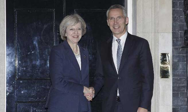 British PM meets with NATO secretary general in London