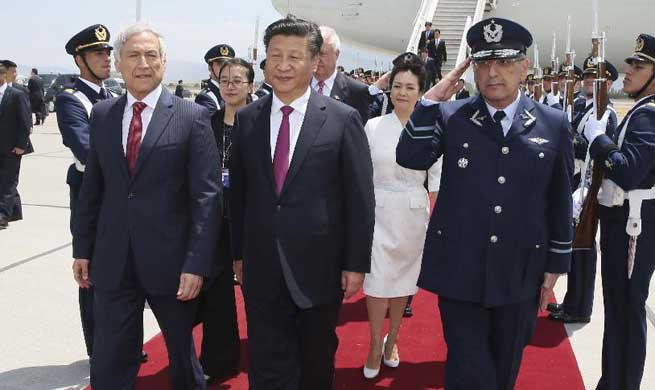 In pics: Chinese president's visit in Chile