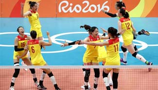 Fighting spirit of women's volleyball team inspires China