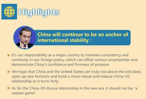 Infographic: Chinese foreign minister meets the press