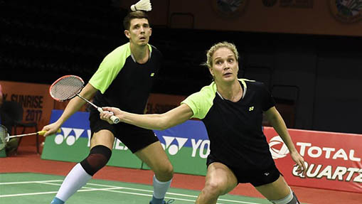 China's Lu, Huang win quarterfinal of mixed double at Indian Open