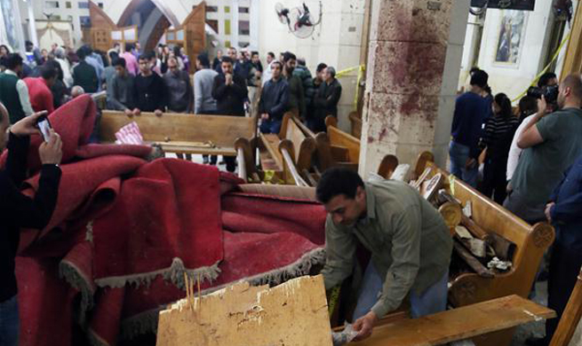 Death toll rises to 43 in Egypt's church blasts