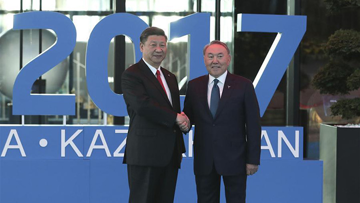 President Xi attends opening ceremony of Astana Expo 2017