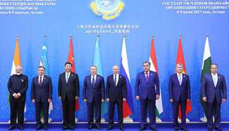 China Focus: SCO expansion vital for int'l security, common prosperity