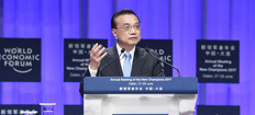 Premier Li Keqiang attends Summer Davos Forum in Dalian