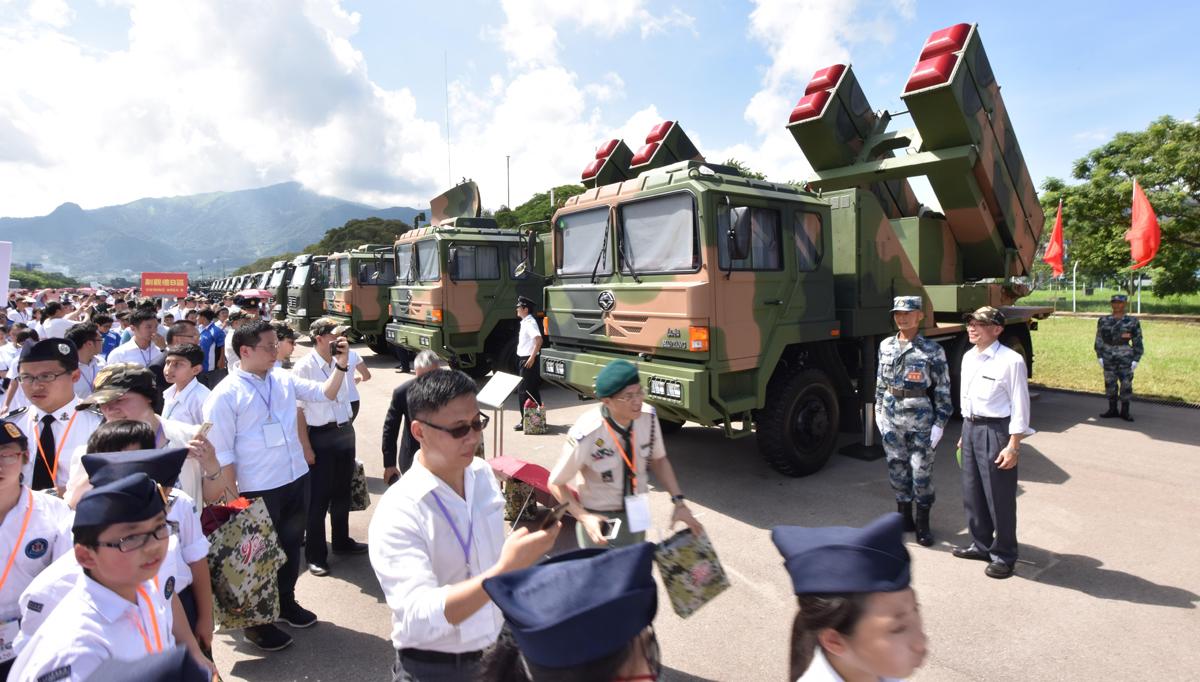 Local residents visit Shek Kong barracks of PLA Garrison in HK
