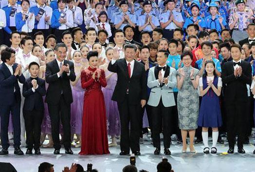President Xi Jinping attends gala celebration marking Hong Kong's 20th return anniversary