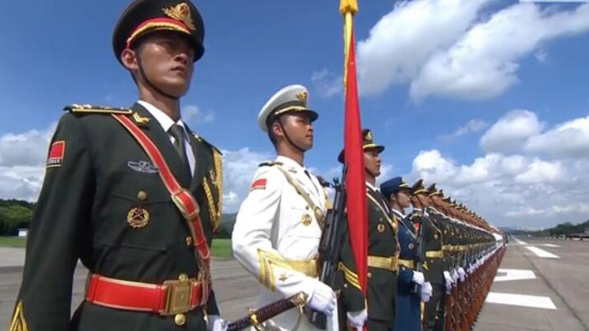 President Xi Jinping inspects PLA troops based in Hong Kong
