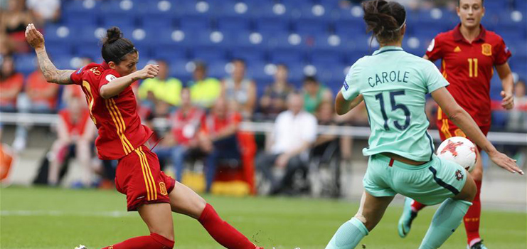 Spain beats Portugal 2-0 at UEFA Women's EURO 2017 soccer tournament