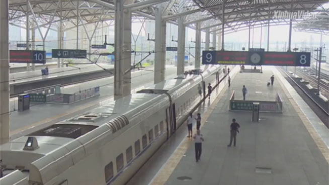 New bullet trains enter trial operation in N China