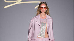 Creations of fashion house Genny staged in Milan