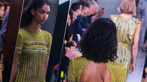 Creations of Bottega Veneta presented at Milan Fashion Week