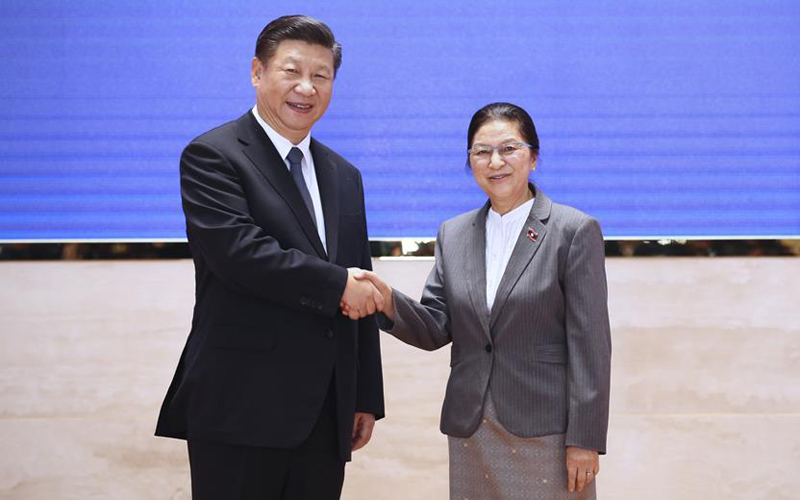 Chinese president meets with President of Lao National Assembly