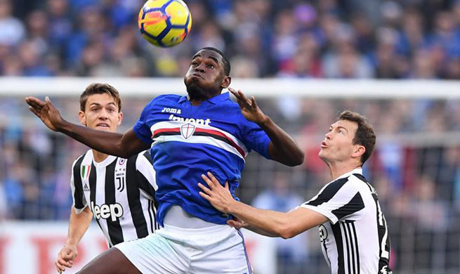 Sampdoria defeats Juventus 3-2 in Italian Serie A