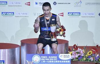 Lee Chong Wei claims title of Hong Kong Open men's singles