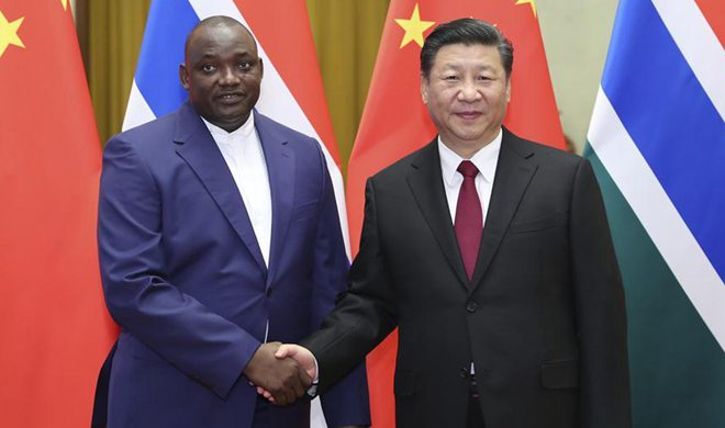 China underscores one-China principle as Gambian president visits