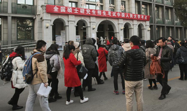 National postgraduate entrance exam kicks off in China