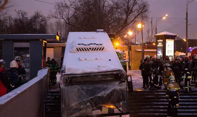 5 killed after Moscow bus drives into underpass