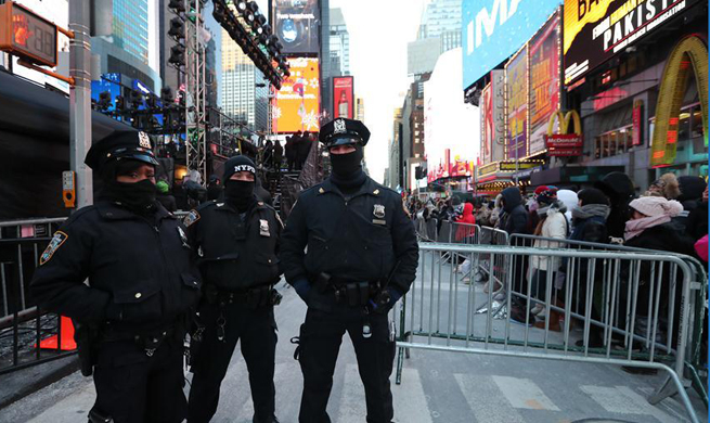 Security measures tightened for New Year celebration at Times Square