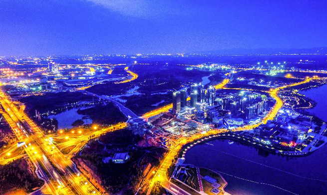 Aerial photos show glamour of Chinese cities