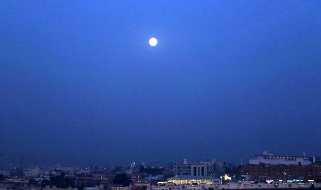 First full moon of year seen in Rawalpindi, Pakistan
