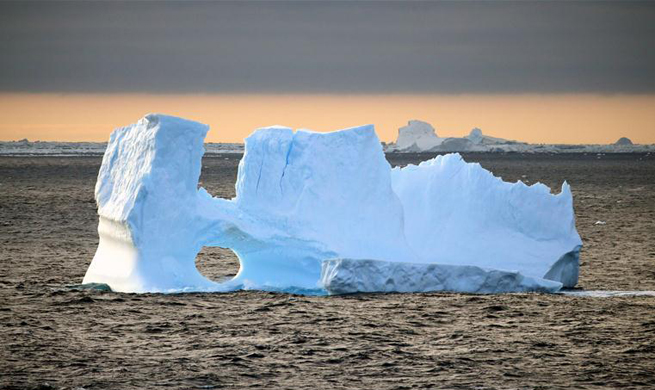 Scenery of iceberg seen from China's research icebreaker Xuelong